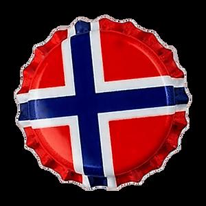 Bilde av 26mm, 100stk - Norsk Flagg